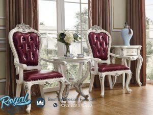 Kursi Teras Jepara Warna Putih Moderno