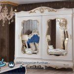 Satu Set Tempat Tidur Putih Modern Elegance