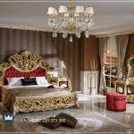 Tempat Tidur Mewah Klasik Gold Aliguler