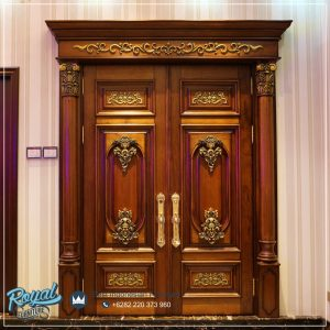 Kusen Pintu Jati Ukir Klasik Solid Wooden