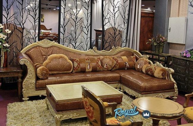 Sofa Ruang Tamu Klasik Mewah Jepara L Sudut Eropa