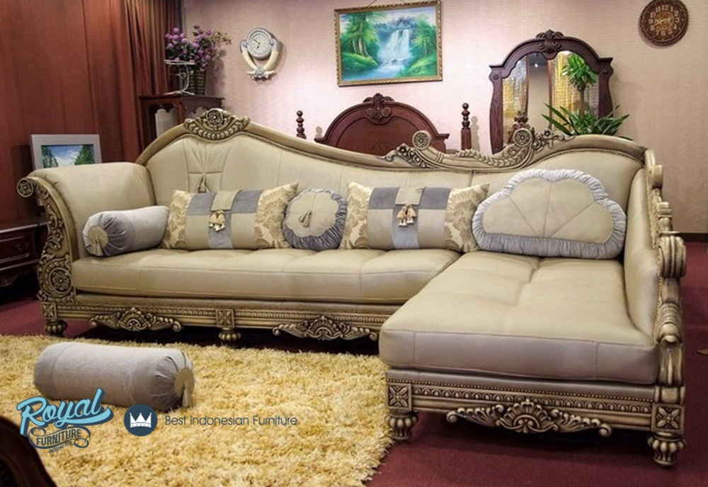Sofa Ruang Tamu L Mewah Terbaru Baroque