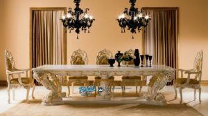 Set Meja Kursi Makan Klasik Mewah Terbaru Minerva