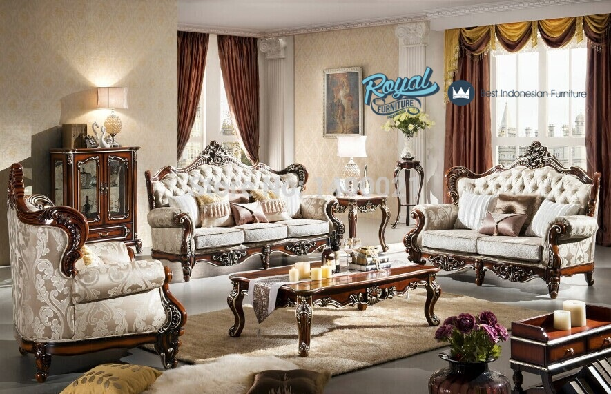 Set Sofa Ruang Tamu Klasik Mewah Terbaru European Style