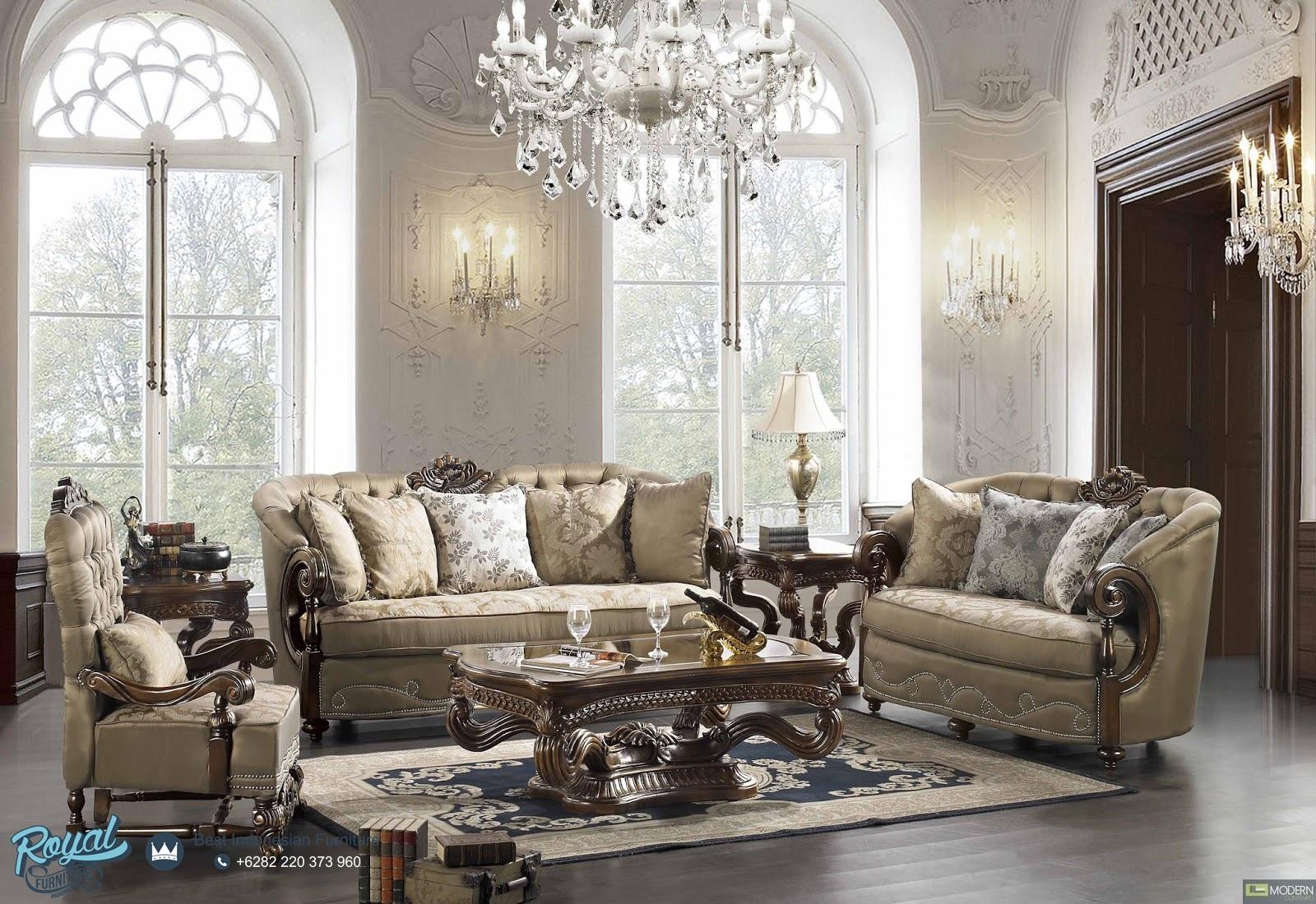 Sofa Ruang Tamu Klasik Mewah Terbaru Exotic