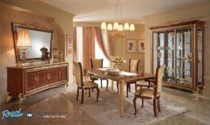 Set Kursi Makan Klasik Model Italia Mewah Terbaru Gostinye
