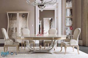 Set Meja Makan Oval Klasik Mewah Terbaru Luxury Yemek Odasi