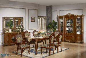 Set Kursi Makan Jati Ukiran Klasik Mewah Terbaru Royal Palace