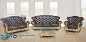 Kursi Sofa Tamu Set Klasik Ukiran Mebel Jepara Duco Gold Mewah Terbaru