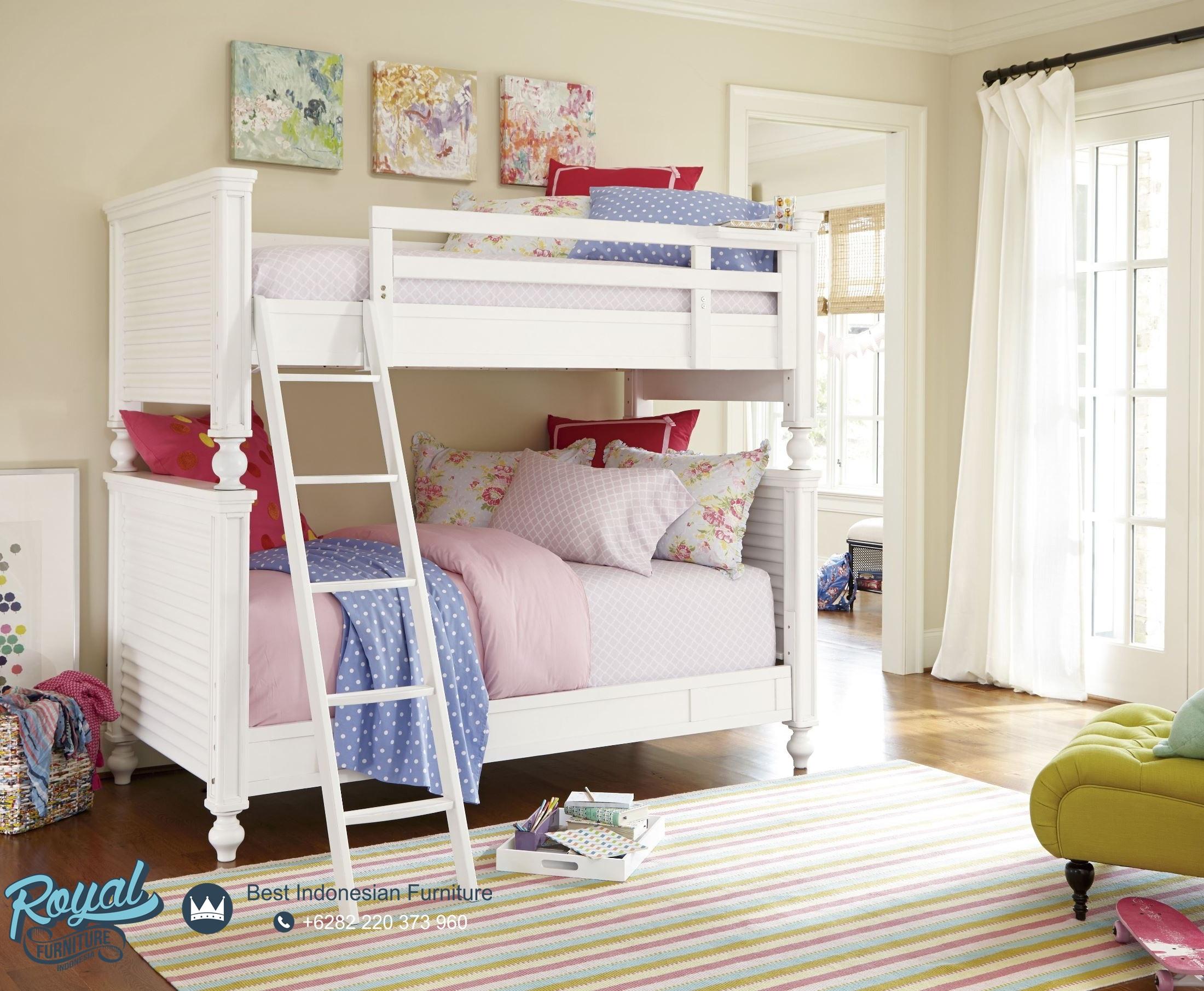 Kamar Tidur Anak Tingkat Duco Putih Modern Mewah Terbaru ...