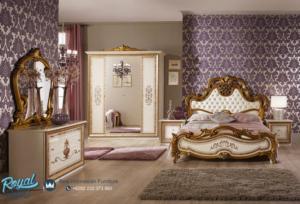 Set Tempat Tidur Eropa Klasik Duco Emas Mewah Terbaru Anita