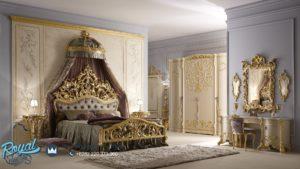 Kamar Tidur Set Eropa Ukiran Emas Mebel Jepara Mewah Terbaru Alberto