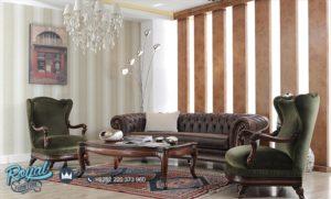 Kursi Tamu Jati Natural Mewah Terbaru Modern Livingroom