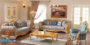Sofa Tamu Mewah Terbaru Gold Ukir Klasik Jepara