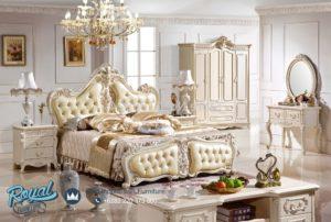 Tempat Tidur Mewah Putih Duco Modern Model Terbaru Tania