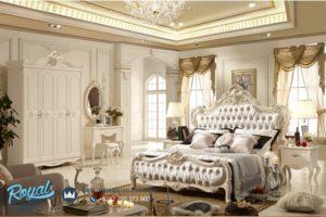 Tempat Tidur Mewah Putih Duco Modern Model Terbaru Wooden