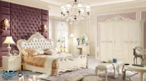 Tempat Tidur Set Mewah Putih Duco Modern Model Terbaru