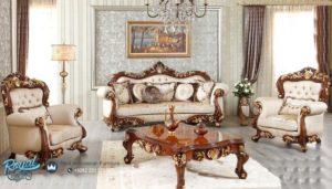Set Sofa Ruang Tamu Klasik Mewah Koltuk Kayu Jati Ukiran Mebel Jepara