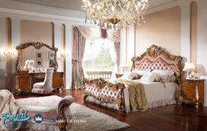 Set Tempat Tidur Mewah Ukir Klasik Mebel Jepara Firenze Terbaru