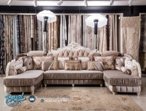 Sofa Tamu Mewah Ruangan Keluarga Italian Furniture Terbaru