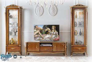Bufet Tv Set Almari Hias Mewah Kayu Jati Jepara Murah Terbaru