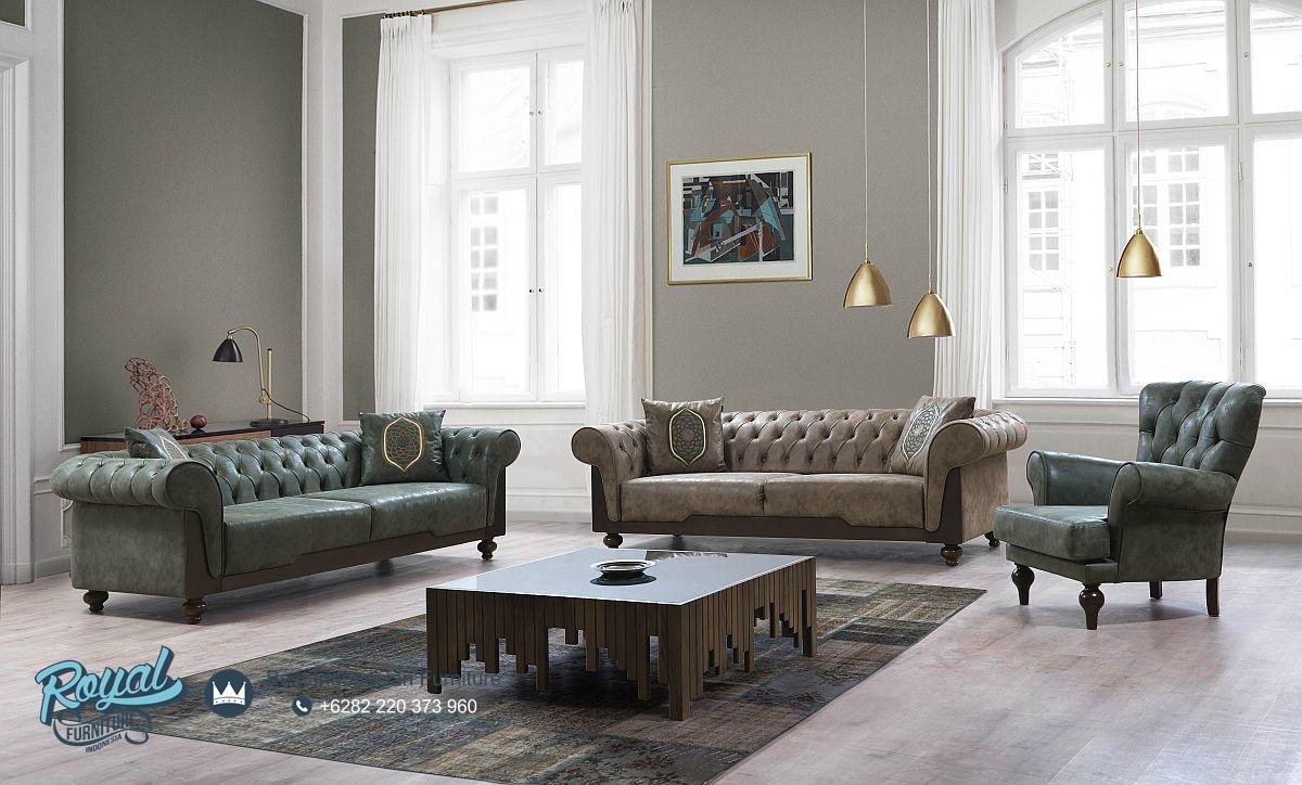 Sofa Tamu Mewah Vintage Chester Model Terbaru