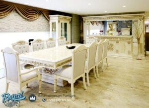 Set Meja Makan Minimalis Modern Putih Duco Istambul Klasik