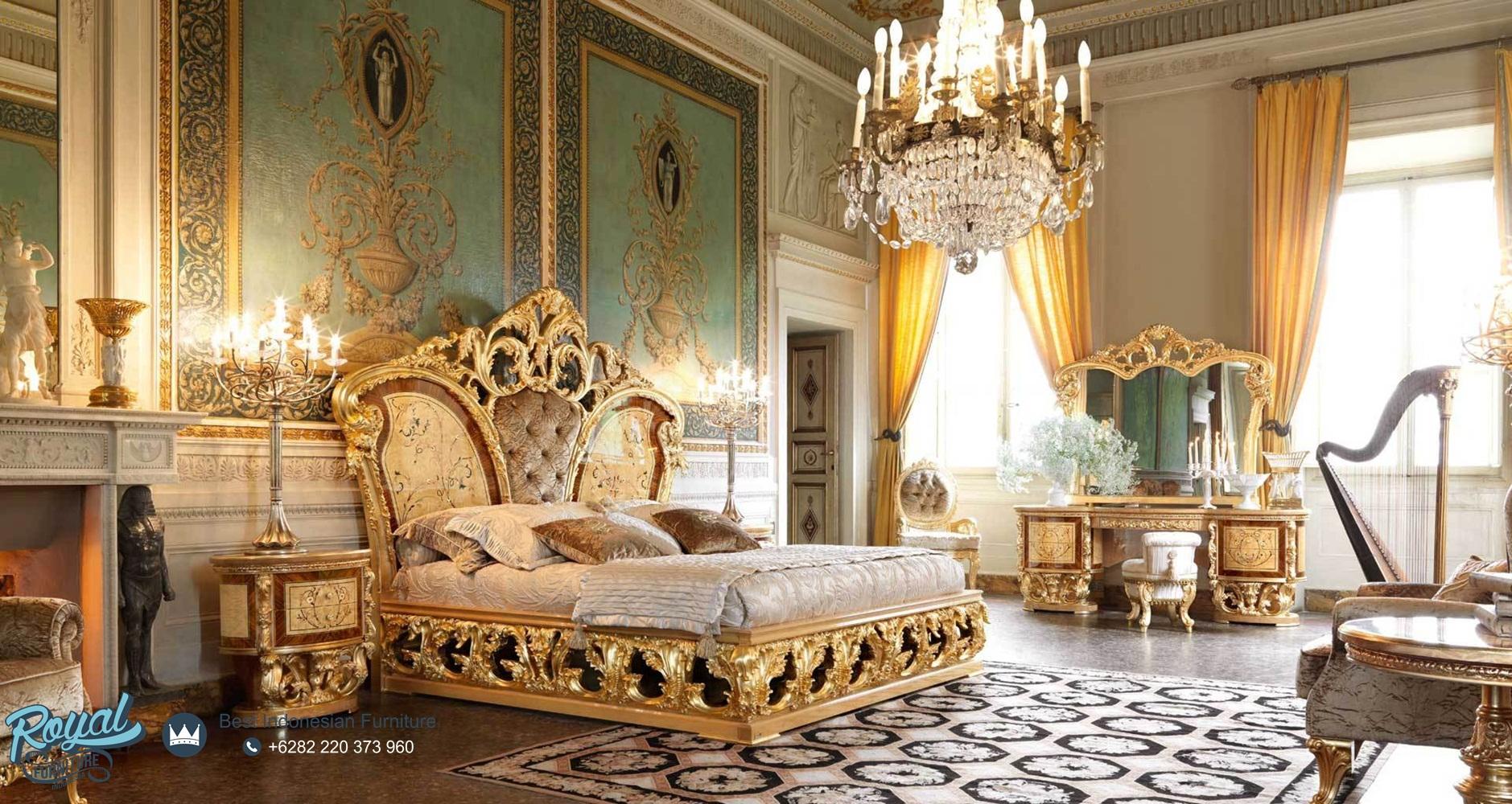 Set Kamar Tidur Mewah Ukiran Jepara Classical Bedroom ...