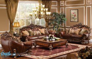 Set Sofa Tamu Klasik Mewah Ukir Jepara Waldorf Terbaru