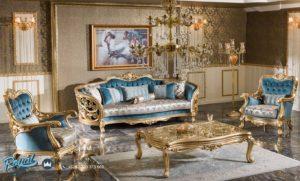Set Sofa Tamu Mewah Klasik Gold Duco Berguzar
