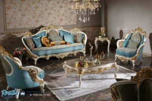 Set Sofa Tamu Mewah Terbaru Ukir Klasik Davinci