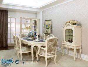 Set Meja Makan Mewah Modern Putih Duco Beautifull Terbaru