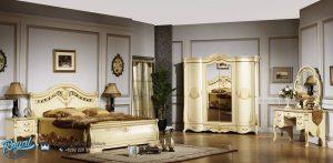 Set Kamar Tidur Mewah Ivory Ukiran Italian Furniture