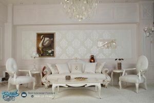 Set Sofa Tamu Mewah Putih Duco Turky Style Terbaru