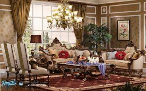 Sofa Tamu Klasik Ukiran Jepara Wonderfull Terbaru
