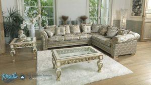 Sofa Tamu Minimalis Mewah Sudut Leter L Italian Luxury Terbaru