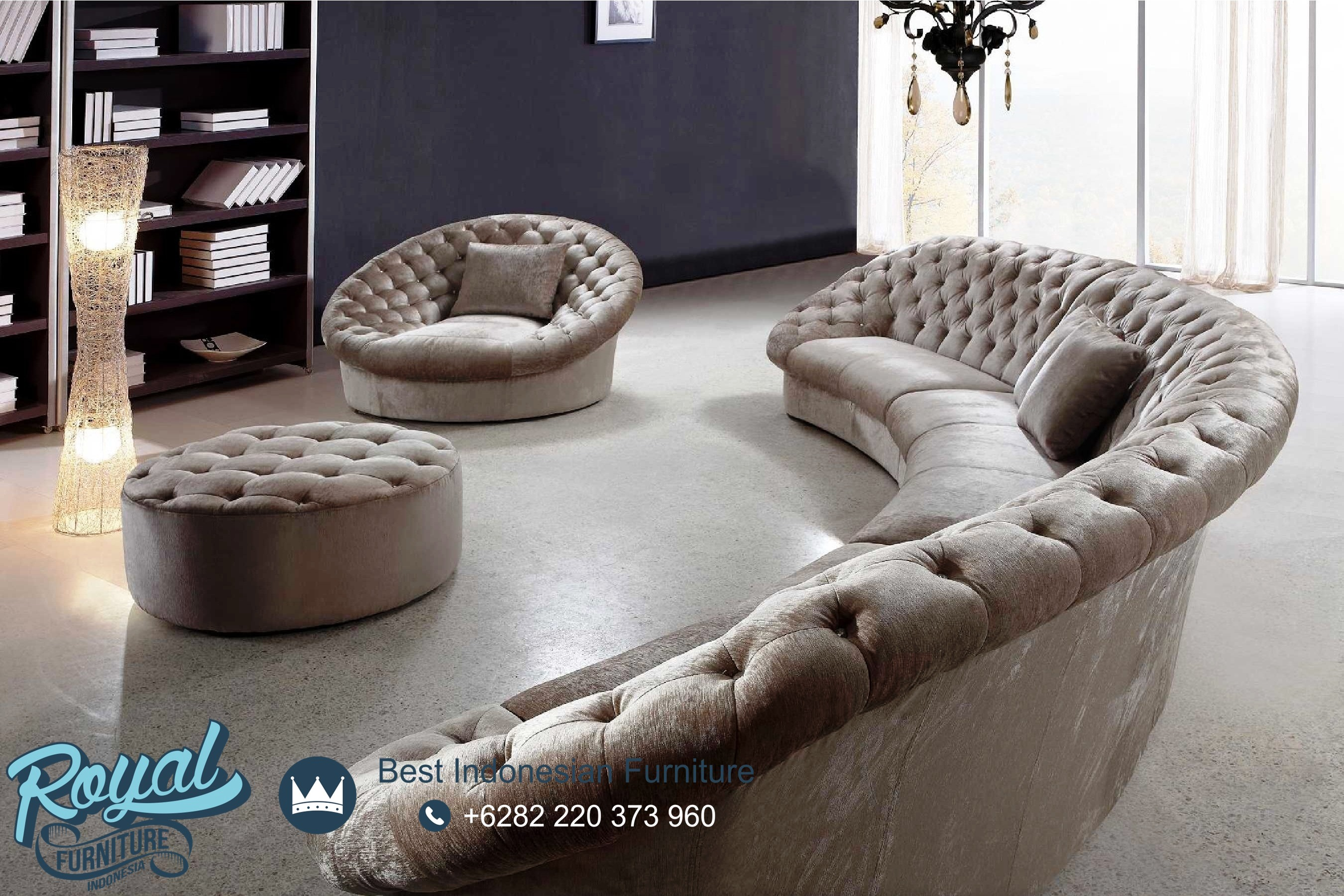 Sofa Santai Ruang Keluarga Elegan Mewah Terbaru Royal Furniture Sofa santai untuk ruang keluarga