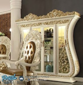 Lemari Hias Mewah Kayu Jepara Ukir Klasik Palazzo