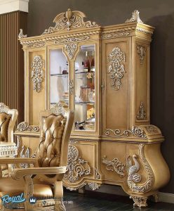 Lemari Hias Mewah Ukir Klasik Jepara Victorian Palace