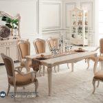 Set Meja Makan Mewah Putih Duco Modern Italian Terbaru