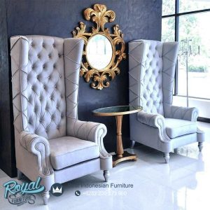 Sofa Teras Terbaru Baroque Velvet With Mirror Classic