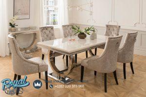 Set Meja Makan Minimalis Mewah With Table Stenlis