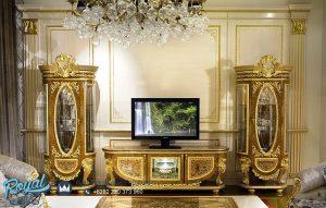 Set Bufet Tv Lemari Hias Klasik Mewah Jepara Davinci