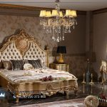 Set Kamar Tidur Klasik Mewah Gold Duco Kosova