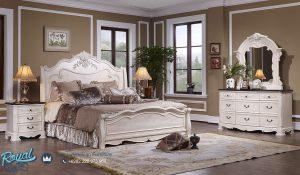 Tempat Tidur Mewah Jepara Modern Putih Duco