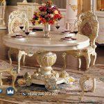 Set Meja Kursi Makan Mewah Ukir Klasik Minerva