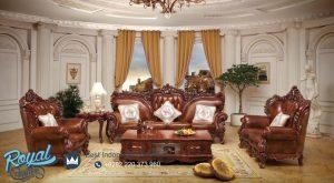 Sofa Tamu Mewah Klasik Ukiran Jepara Kayu Jati Antique Eropa