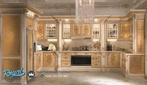 Model Kitchen Set Dapur Mewah Elegan Ukiran Jepara Terbaru