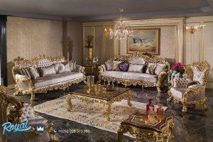 Sofa Tamu Jepara Gold Klasik Barococo Ukiran Jepara