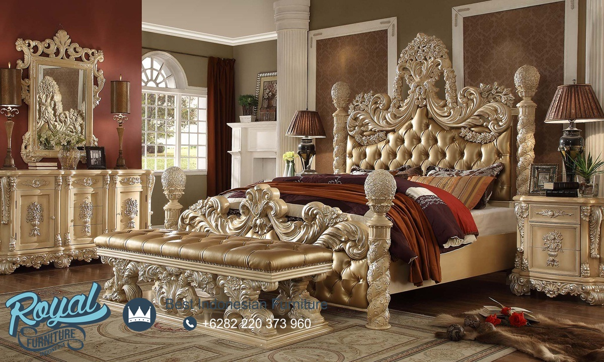 Bedroom Set Kamar Tidur Mewah Klasik Ukiran Jepara Homey ...